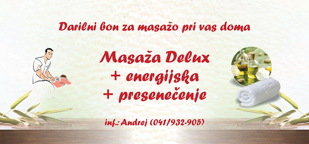 Bon za masažo delux