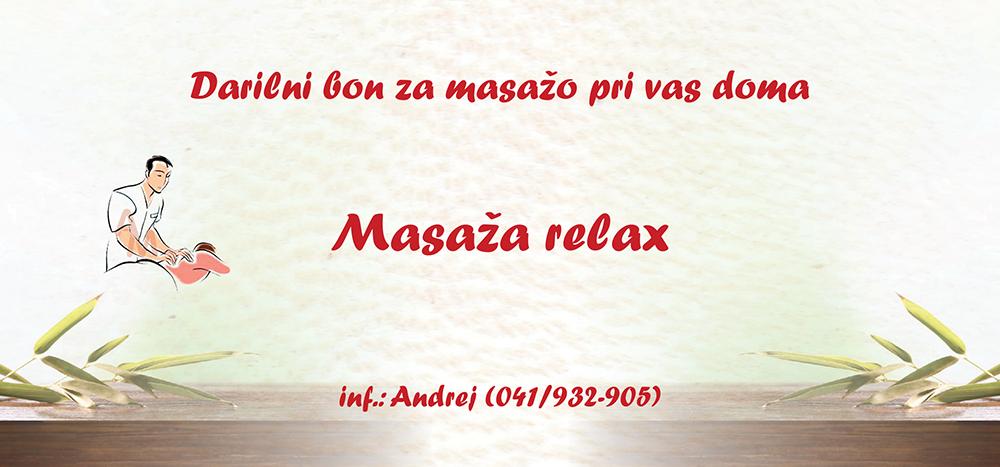bon za masažo relax